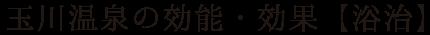 玉川温泉の効能・効果【浴治】